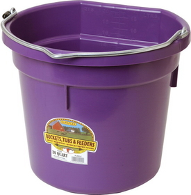 Miller Flat Back Plastic Bucket Purple / 20 Quart - P20Fbpurple