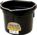 Miller Little Giant Plastic Flat Back Bucket - Black - 8 Quart