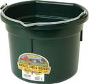 Miller Little Giant Plastic Flat Back Bucket - Green - 8 Quart