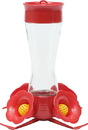 Woodstream Pinch Waist Glass Hummingbird Feeder - Red - 8 Ounce