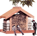 Woodstream Deluxe Cedar Chalet Feeder - 5 Pound