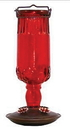 Woodstream Antique Glass Bottle Hummingbird Feeder - Red - 24 Ounce