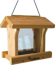Audubon/Woodlink Cedar Wood Ranch Style Bird Feeder - Tan - 3 Pound Cap