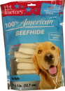 Pet Factory 100% American Beefhide Chip Rolls Dog Chew - 5 Inch/22 Pack