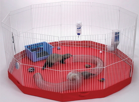 Marshall Pet Playpen Mat For Small Animals Blue Or Red - Fc-261