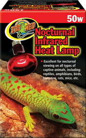 Zoo Med Nocturnal Infrared Heat Lamp / 50 Watts - Rs-50