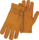 Boss Premium Grain Cowhide Leather Driver Glove - Tan - Large