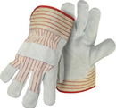 Boss Split Cowhide Leather Palm Glove - Gray - Large