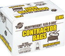 Warp Brothers Contractor Bags - Black - 42 Gal/ 20 Bags