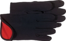 Boss Fleece Lined Jersey Glove - Black/Red Lined - Large