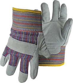 Boss Kids Leather Cuff Glove Gray Gray - 4094K