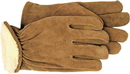 Boss Men S Pile-Insulated Split Leather Driver Glove - Brown - Medium