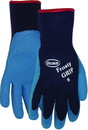 Boss Frosty Grip Insulated Knit Rubber Palm Glove - Blue - Large