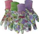 Boss Ladies Floral Cotton Glove With Knit Wrist - Assorted - One Size