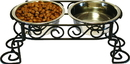 Ethical Stainless Steel Scroll Work Double Diner - Stainless Steel - 1 Quart