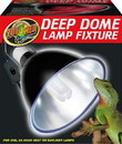 Zoo Med Deep Dome Lamp Fixture - Black - 8.5 Inch