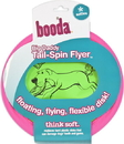 Booda Tail-Spin Flyer Floppy Disc Dog Toy - Green/Red - 12 Inch