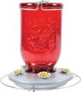 Mason Jar Glass Hummingbird Feeder