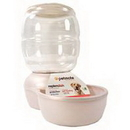 Petmate Replendish Feeder With Microban - Pearl White - 18 Pound