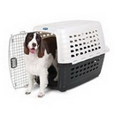 Petmate Fashion Compass Kennel - Met White/Black - 28 Inch