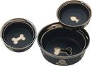 Ethical Ritz Copper Rim Dog Dish - Black - 7 Inch