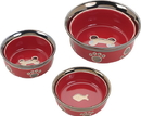 Ethical Ritz Copper Rim Dog Dish - Red - 7 Inch