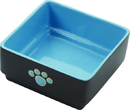 Ethical Four Square Dog Dish - Blue - 5 Inch
