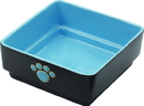 Ethical Four Square Dog Dish - Blue - 7 Inch