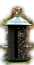 Audubon/Woodlink Metal Mesh Bird Feeder - Green - 3 Pound Cap