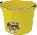 Miller Little Giant Plastic Flat Back Bucket - Yellow - 8 Quart