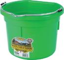 Miller Little Giant Plastic Flat Back Bucket - Lime Green - 8 Quart