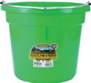 Miller Little Giant Plastic Flat Back Bucket - Lime Green - 20 Quart