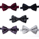 TOPTIE Men's Formal Bow Tie, Woven Pre-tied Bowtie 5pc Mixed Lot