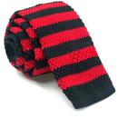 TOPTIE Men's Knit Stripe Pattern Skinny Tie Square End 2 Inch Necktie Tie