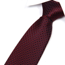 TOPTIE Men's Dots Check Woven Tie 3.2