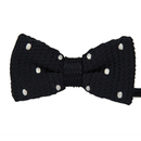 TOPTIE Men's Tuxedo Pre-Tied Knitted Bow Ties Small Polka Dots Bowtie