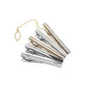 TopTie 5Pcs Men's Classic Tie Bar Clip Set Silver Gold Tone