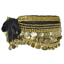BellyLady Multi-Row Gold Coins Belly Dance Skirt Wrap & Hip Scarf, Gift Idea