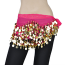 BellyLady Belly Dance Hip Scarf, Gold Coins Costume Skirt, Christmas Gift Idea