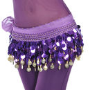 BellyLady Belly Dance Hip Scarf, Gold Coins Dance Skirt Christmas Gift Idea