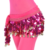 BellyLady Belly Dance Hip Scarf, Gold Coins & Paletts Lively Style