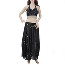 BellyLady Chiffon Belly Dance Costume, Tribal Halter Top And  Skirt Set