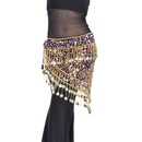 BellyLady Belly Dance Gold Coins Costume Hip scarf, Tribal Egyptian Coin Belt