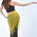 BellyLady Belly Dance Hip Scarf & Shawl With Paillettes And Fringe, Deluxe V-Shape