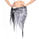 BellyLady Tribal Belly Dance Hip Scarf & Shawl With Paillettes And Fringe