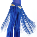BellyLady Handmade Belly Dance Fringe Coin Hip Scarf | Fringes and Frills