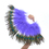 BellyLady Belly Dance Peacock Feather Marabou Fan with Plastic Staves