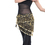 BellyLady Black Gold Coins Belly Dance Hip scarf, Tribal Belly Dancing Skirt