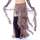 BellyLady Tribal Belly Dance Hip scarf, Leopard Print Belly Dancing Zumba Skirt