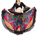 BellyLady Belly Dance 25 Yard Tribal Gypsy Skirt, Halloween Costume